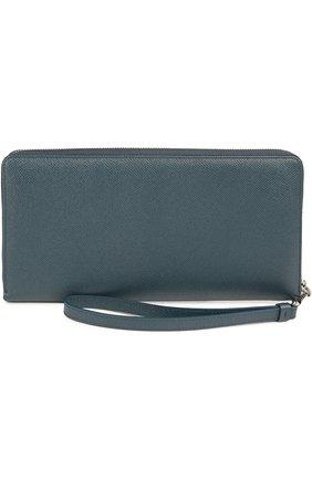 Мужской кожаное портмоне DOLCE & GABBANA темно-синего цвета, арт. 0115/BP2128/A1001 | Фото 2