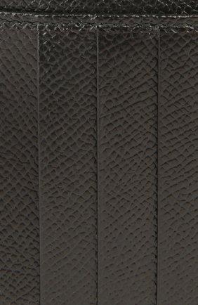 Кожаный футляр для кредитных карт с отделением для монет Dolce & Gabbana черного цвета | Фото №5