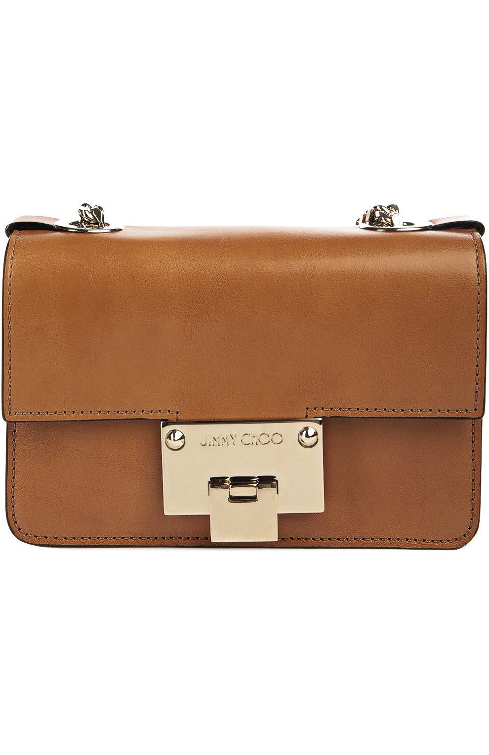 edeff7c13d9c Фото Женская сумка rebel soft mini JIMMY CHOO коричневая цвета Италия  5040383 REBEL S0FT MINI/