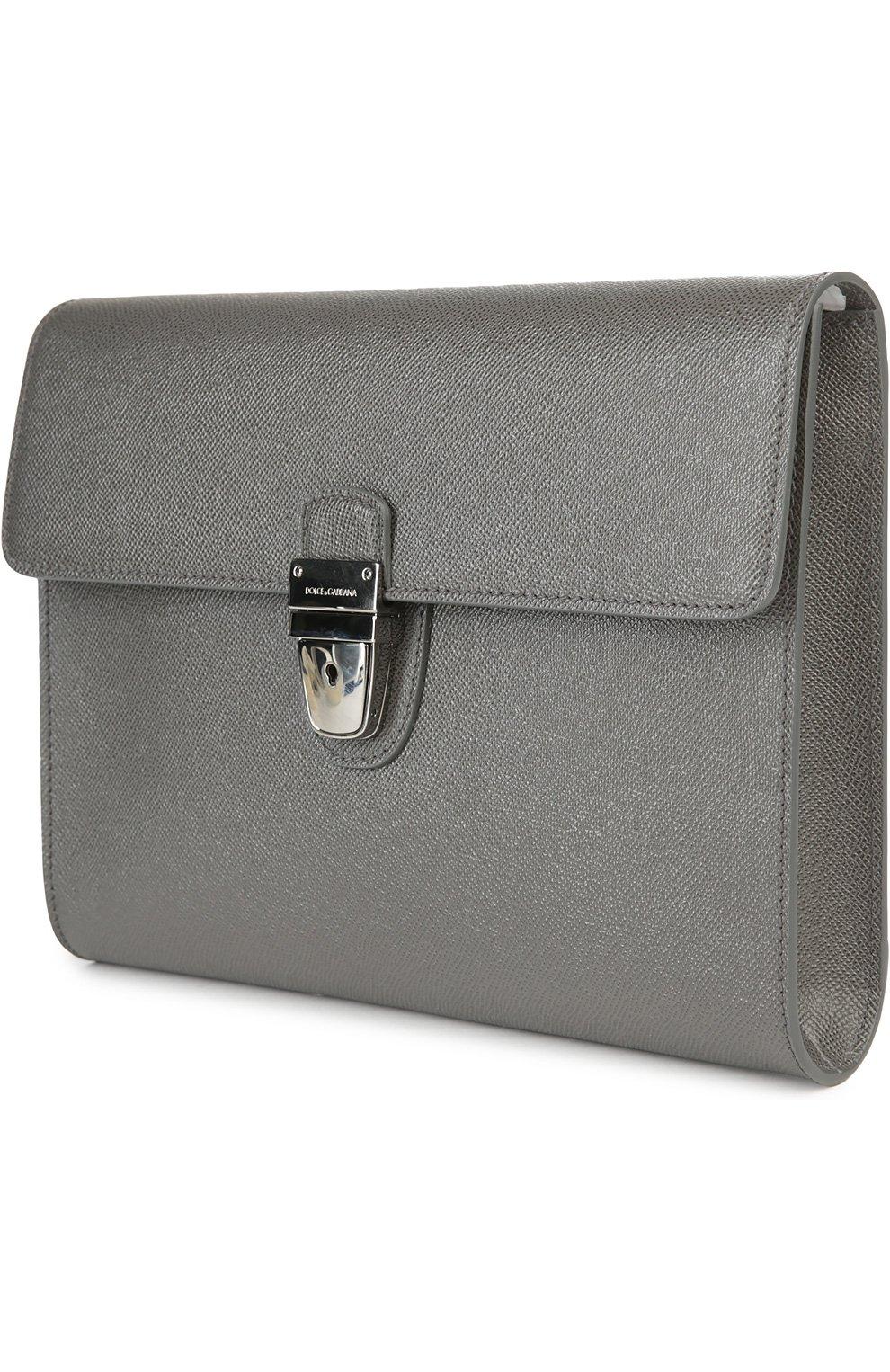 Портфель Dolce & Gabbana серый   Фото №3