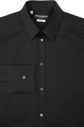 Мужская хлопковая сорочка DOLCE & GABBANA черного цвета, арт. 0101/G5DE1T/FUEAJ | Фото 1