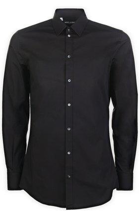 Мужская хлопковая сорочка DOLCE & GABBANA черного цвета, арт. 0101/G5DE1T/FUEAJ | Фото 2