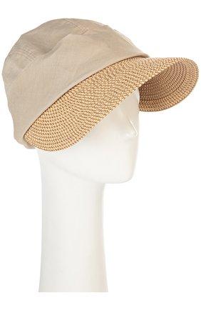 Шляпа Eric Javits светло-бежевого цвета | Фото №1
