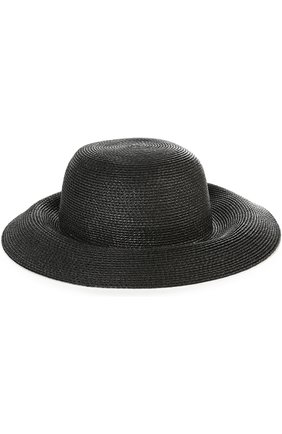 Шляпа с брошью Eric Javits черного цвета | Фото №1