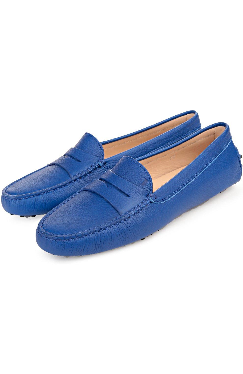 Кожаные мокасины Gommini Tod's синие   Фото №2