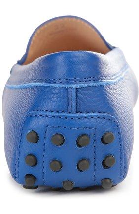 Кожаные мокасины Gommini Tod's синие   Фото №3