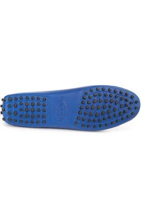 Кожаные мокасины Gommini Tod's синие   Фото №5