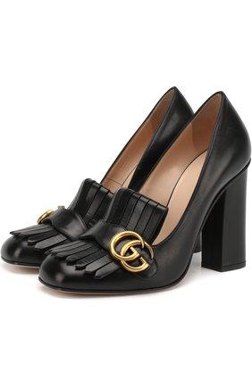 Кожаные туфли Marmont с пряжкой   Фото №1