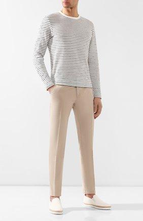 Мужские кожаные слипоны TOD'S белого цвета, арт. XXM0TV0K900NLK | Фото 2
