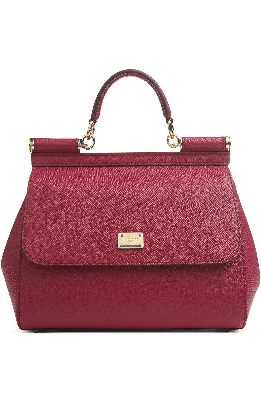 Женская сумка sicily medium DOLCE & GABBANA бордового цвета, арт. 0116/BB6002/A1001 | Фото 1