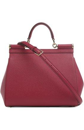 Женская сумка sicily medium DOLCE & GABBANA бордового цвета, арт. 0116/BB6002/A1001 | Фото 2