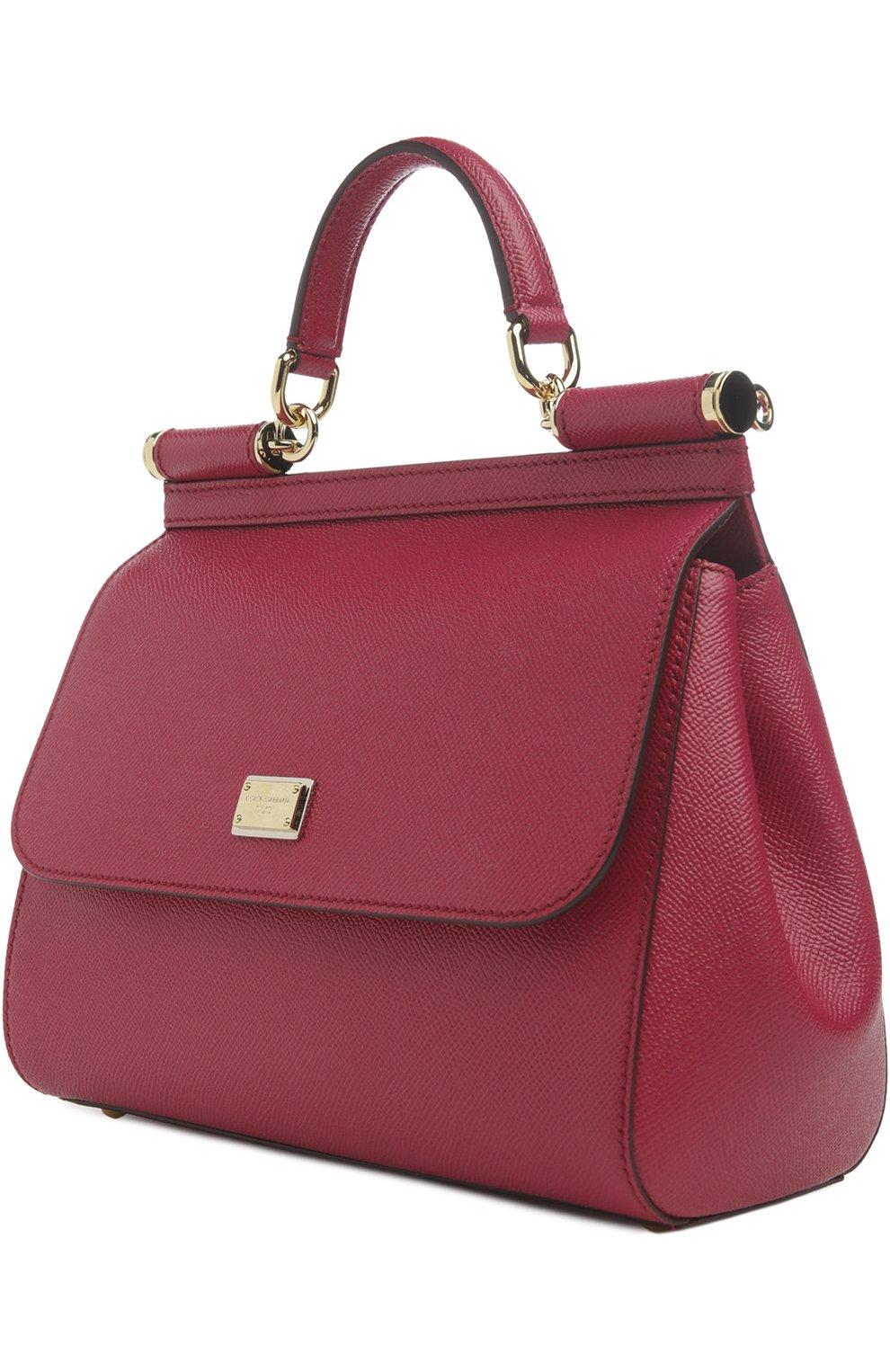 Женская сумка sicily medium DOLCE & GABBANA бордового цвета, арт. 0116/BB6002/A1001 | Фото 3