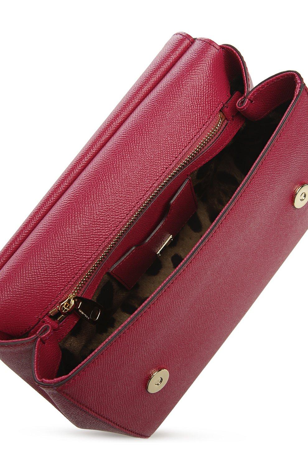 Женская сумка sicily medium DOLCE & GABBANA бордового цвета, арт. 0116/BB6002/A1001 | Фото 4