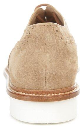 Замшевые броги Gomma на шнуровке | Фото №3