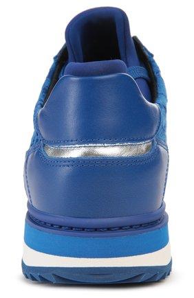 Кожаные кроссовки Nigeria с кружевом | Фото №3