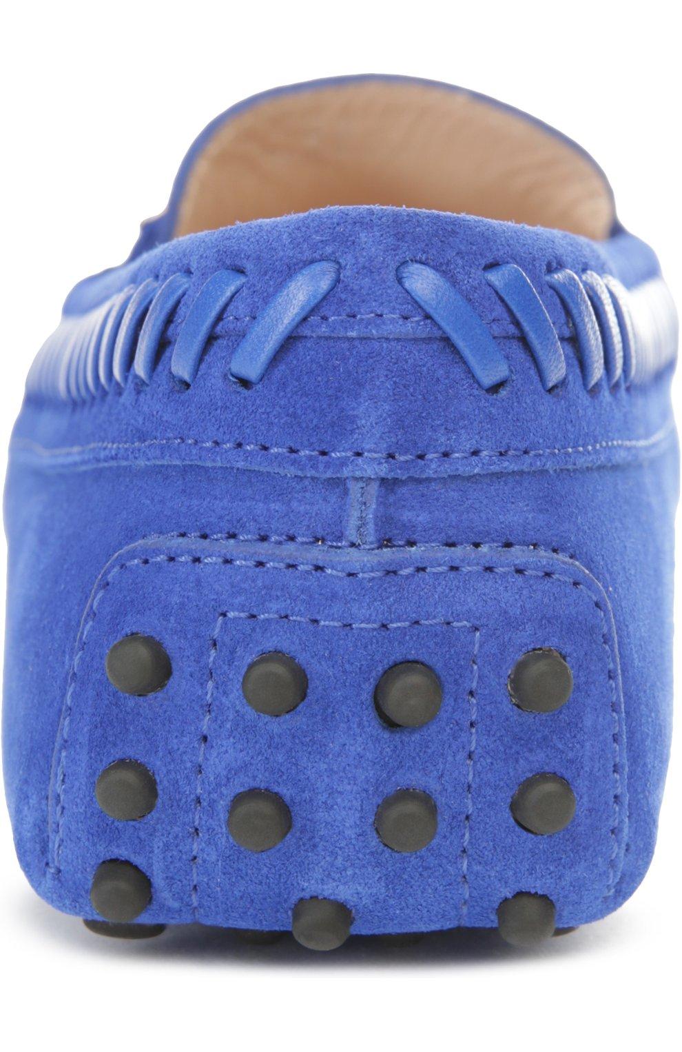 Замшевые мокасины Gommini с перемычкой Tod's синие   Фото №3