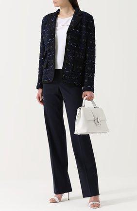 Женские брюки ST. JOHN темно-синего цвета, арт. K887W00 | Фото 2