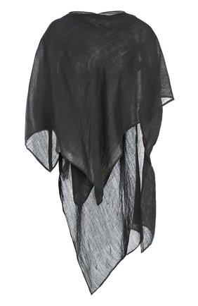 Вязаный шарф Barbara I Gongini черный | Фото №1