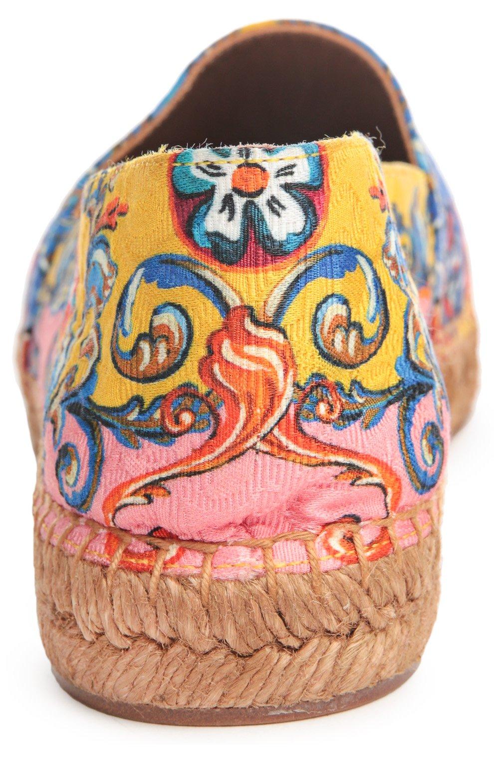 Парчовые эспадрильи с принтом Carretto Siciliano | Фото №3