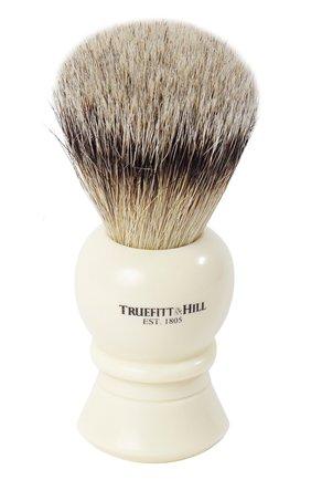 Кисть для бритья Ворс серебристого барсука/Слоновая кость с серебром Regency | Фото №1