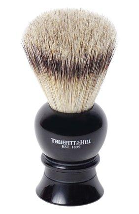 Кисть для бритья Ворс серебристого барсука/Эбонит с серебром Regency | Фото №1