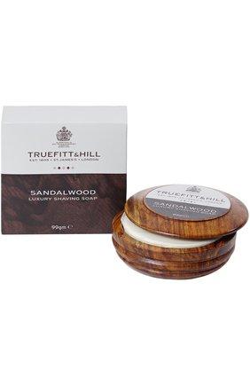 Люкс-мыло для бритья в деревянной чаше Sandalwood | Фото №1