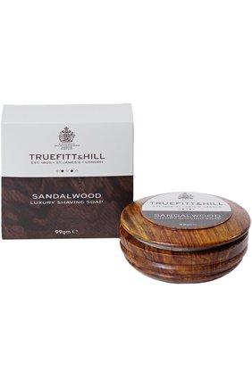 Мужская люкс-мыло для бритья в деревянной чаше sandalwood TRUEFITT&HILL бесцветного цвета, арт. 554 | Фото 2