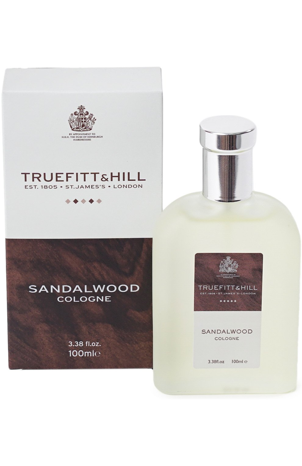 Мужской одеколон sandalwood TRUEFITT&HILL бесцветного цвета, арт. 550   Фото 1 (Статус проверки: Проверена категория; Ограничения доставки: flammable)