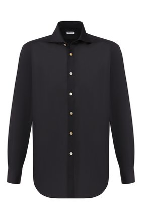 Мужская хлопковая сорочка KITON черного цвета, арт. UCID/H003107 | Фото 1