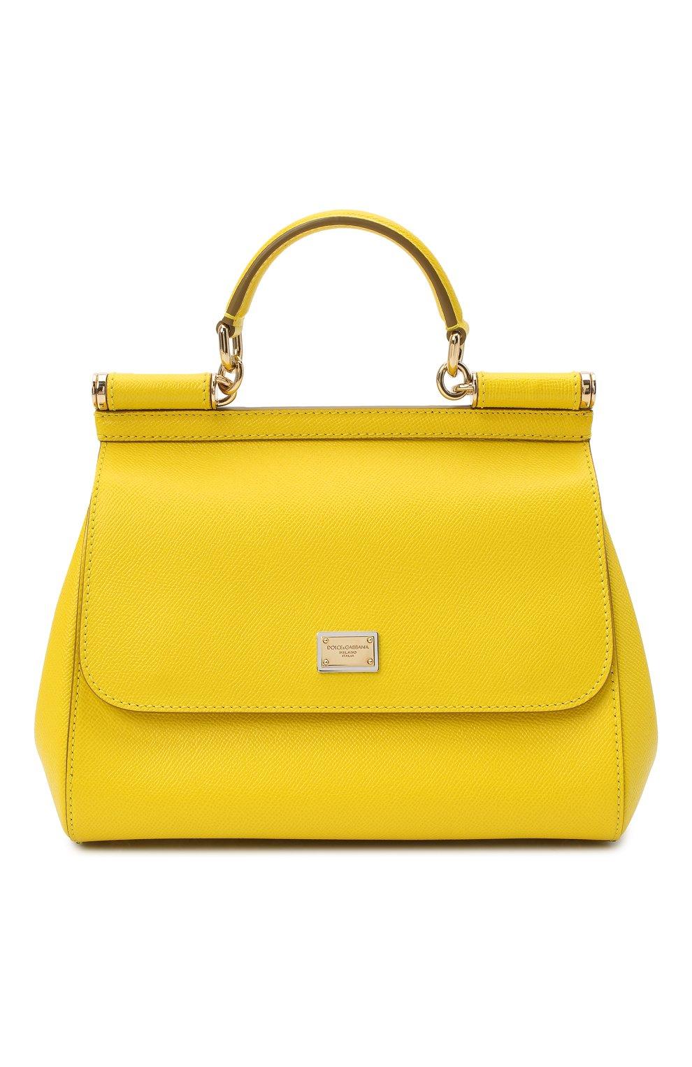 ba3c0037003e Женская сумка sicily medium DOLCE & GABBANA желтая цвета — купить за ...