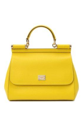 Женская сумка sicily medium DOLCE & GABBANA желтого цвета, арт. 0116/BB6002/A1001 | Фото 1