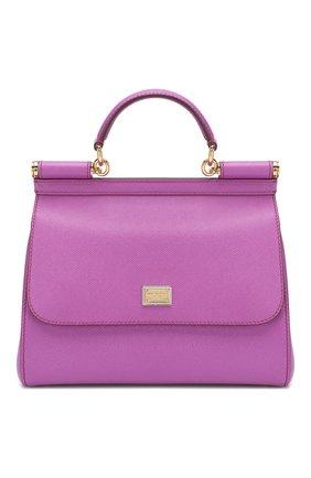 Женская сумка sicily medium DOLCE & GABBANA фиолетового цвета, арт. 0116/BB6002/A1001 | Фото 1 (Материал: Натуральная кожа; Ремень/цепочка: На ремешке; Статус проверки: Проверено, Проверена категория; Сумки-технические: Сумки top-handle; Размер: medium)