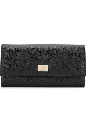 Кожаный кошелек с тиснением Dauphine | Фото №1