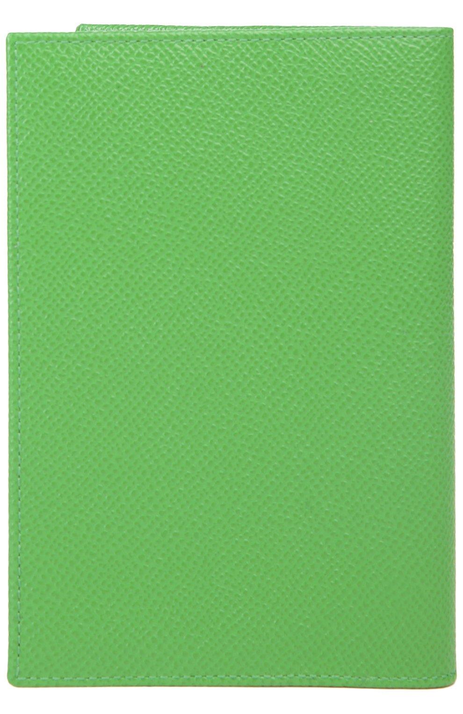Кожаная обложка для документов Dolce & Gabbana зеленого цвета | Фото №2