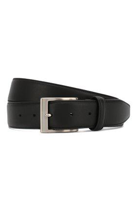 Мужской кожаный ремень CANALI черного цвета, арт. KA00025/50 | Фото 1