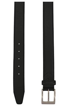 Мужской кожаный ремень CANALI черного цвета, арт. KA00025/50 | Фото 2