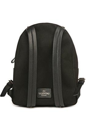Рюкзак с нашивками и отделкой из кожи | Фото №2
