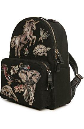 Рюкзак с нашивками и отделкой из кожи | Фото №3