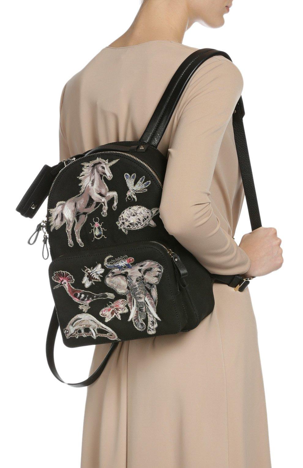 Рюкзак с нашивками и отделкой из кожи | Фото №7