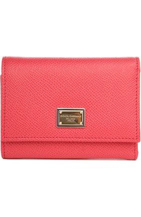 Кожаный кошелек Dolce & Gabbana розового цвета   Фото №1