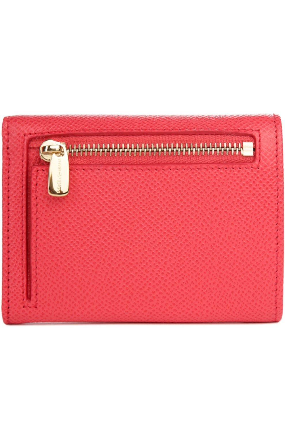 Кожаный кошелек Dolce & Gabbana розового цвета   Фото №2