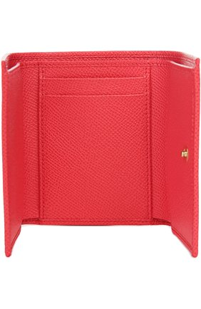 Кожаный кошелек Dolce & Gabbana розового цвета   Фото №3