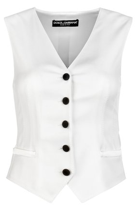 Жилет Dolce & Gabbana белый | Фото №1