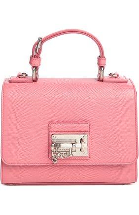Сумка Monica с зеркалом Dolce & Gabbana светло-розовая цвета | Фото №1