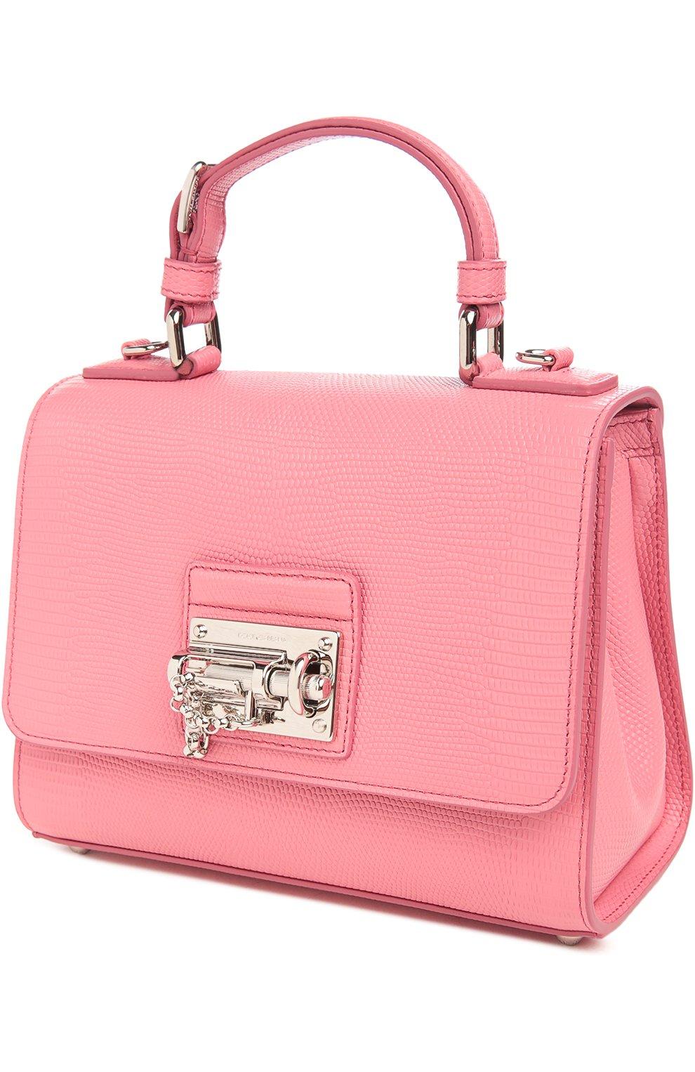 Сумка Monica с зеркалом Dolce & Gabbana светло-розовая цвета | Фото №3