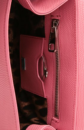 Сумка Monica с зеркалом Dolce & Gabbana светло-розовая цвета | Фото №4