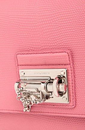 Сумка Monica с зеркалом Dolce & Gabbana светло-розовая цвета | Фото №5