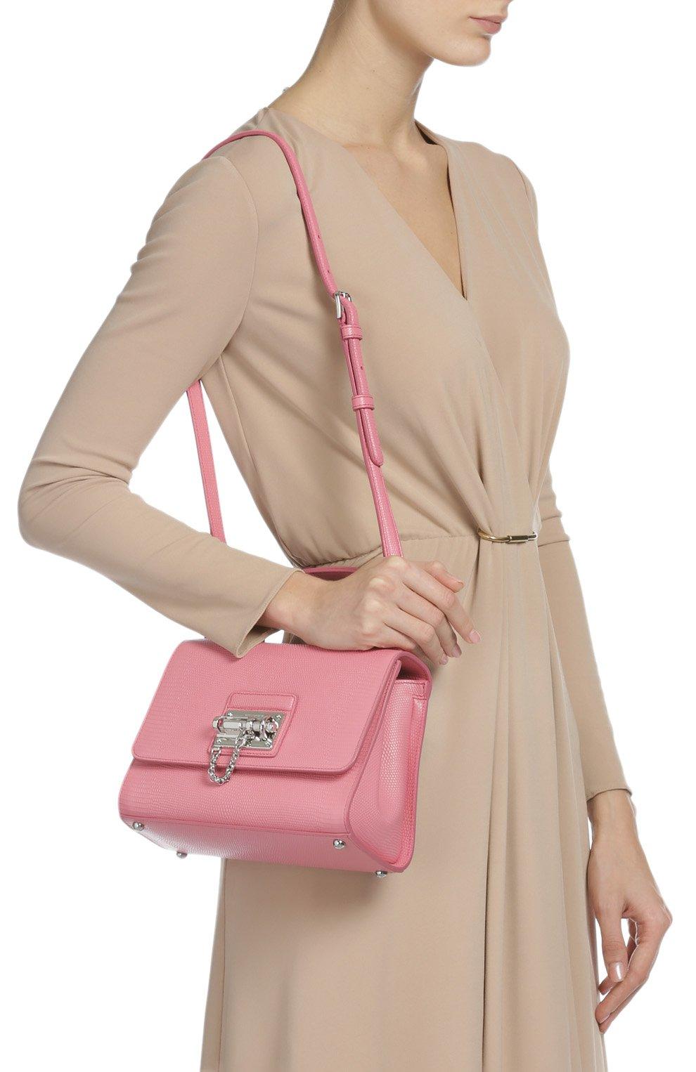 Сумка Monica с зеркалом Dolce & Gabbana светло-розовая цвета | Фото №6