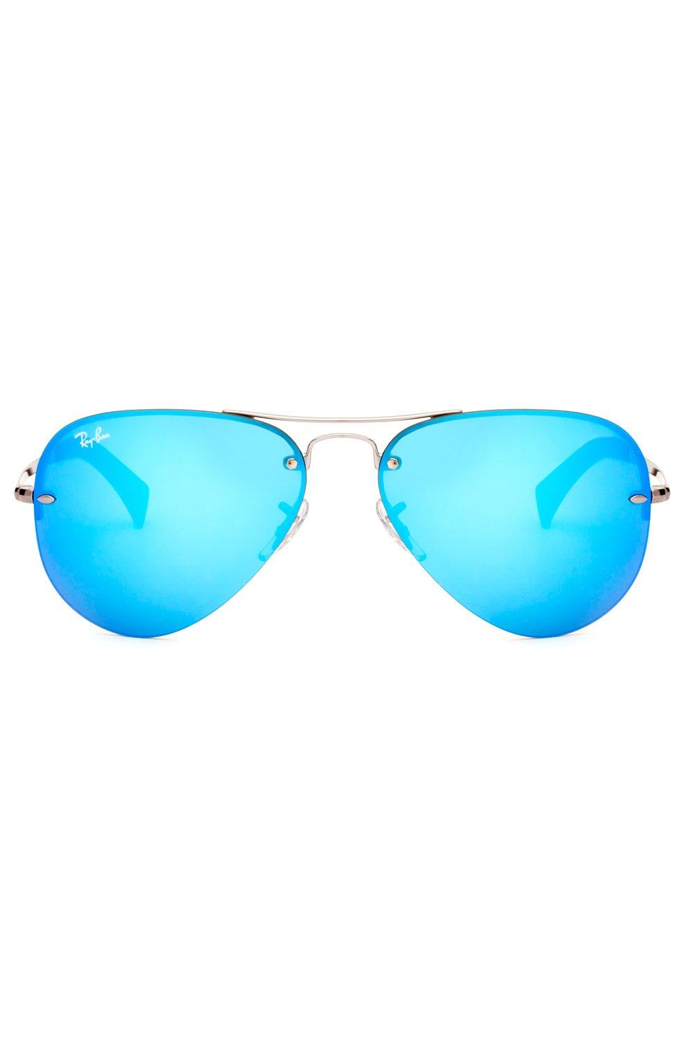 Женские солнцезащитные очки RAY-BAN синего цвета, арт. 3449-004/55   Фото 1