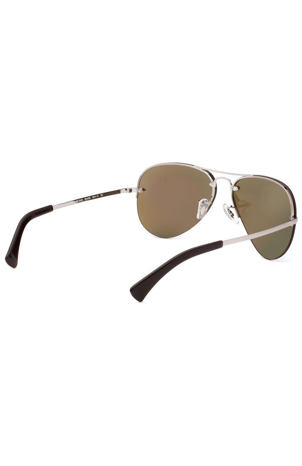Женские солнцезащитные очки RAY-BAN синего цвета, арт. 3449-004/55   Фото 3